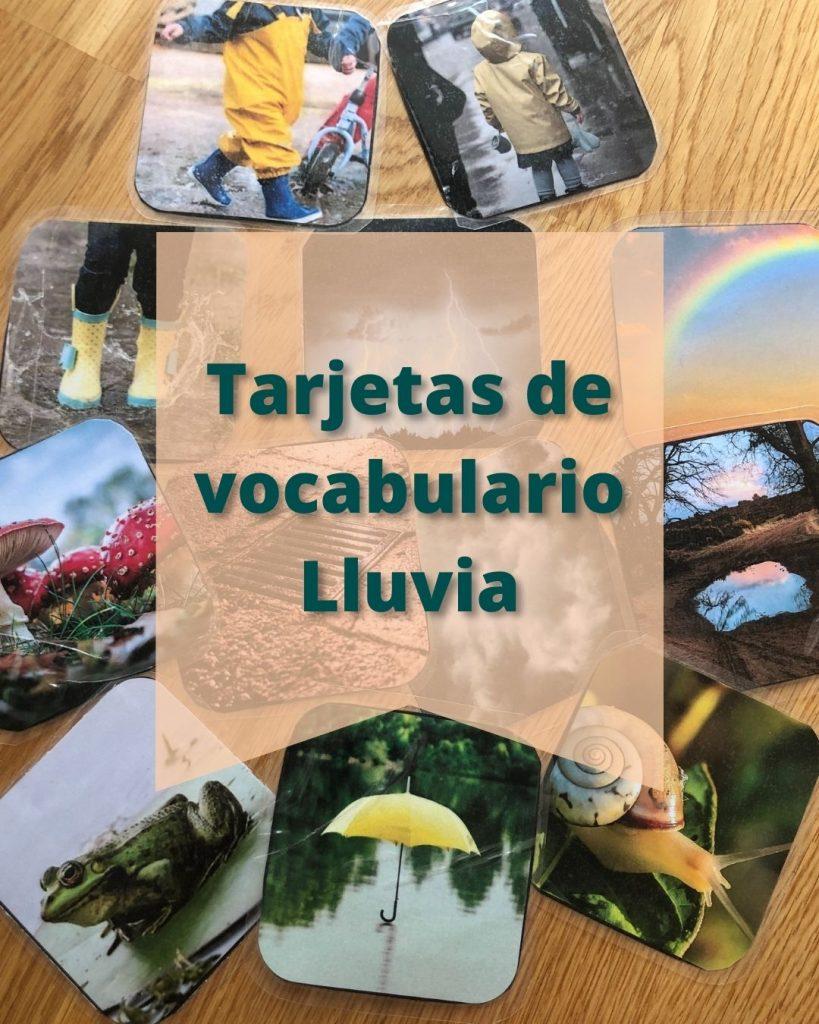 tarjetas de vocabulario - sprint temático -lluvia